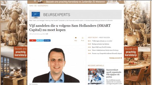 5 aandelen van Sam Hollanders in De Standaard